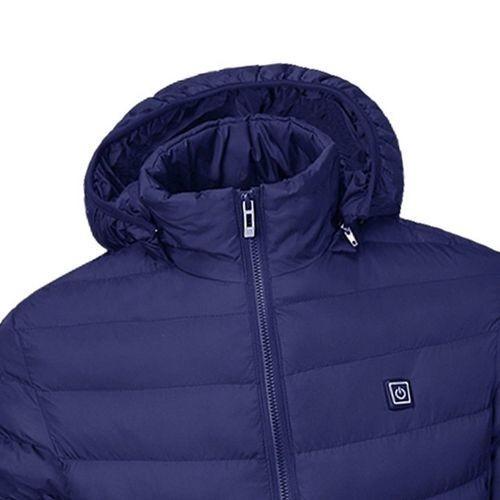 ◆新品◆最安値下げ 電熱ダウンジャケット 発熱 コート ヒートベスト ジャケット 防寒 USB 温度調節 スキー 登山 釣り_画像2