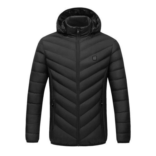 ◆新品◆最安値下げ 電熱ダウンジャケット 発熱 コート ヒートベスト ジャケット 防寒 USB 温度調節 スキー 登山 釣り_画像7