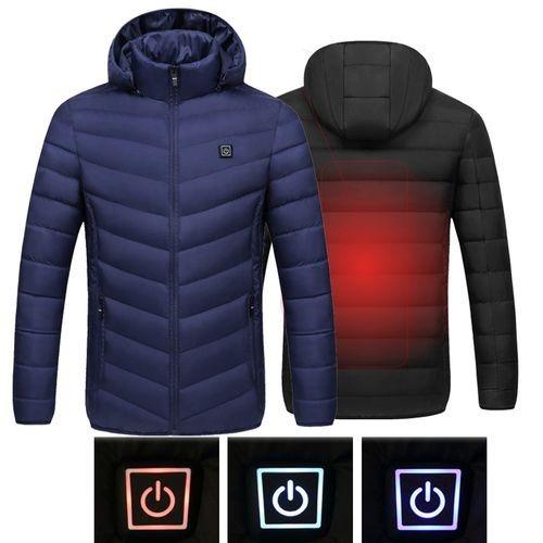 ◆新品◆最安値下げ 電熱ダウンジャケット 発熱 コート ヒートベスト ジャケット 防寒 USB 温度調節 スキー 登山 釣り_画像4