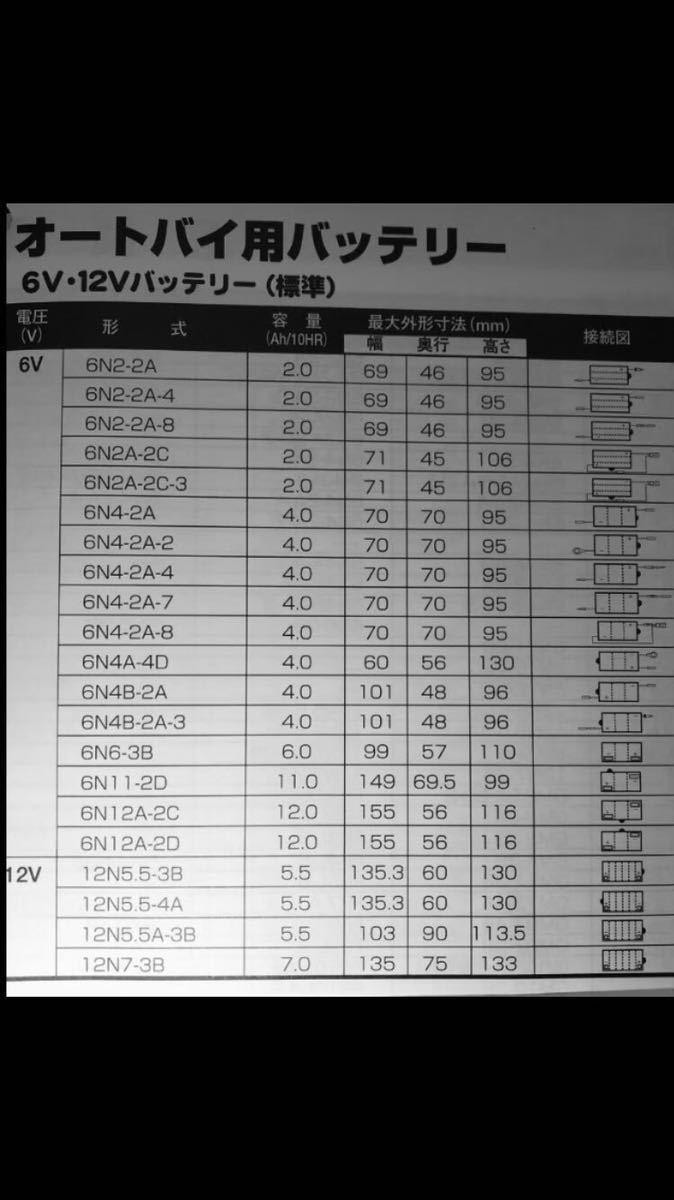 バイクバッテリー ブロード(駆)製 6N4-2A_画像7