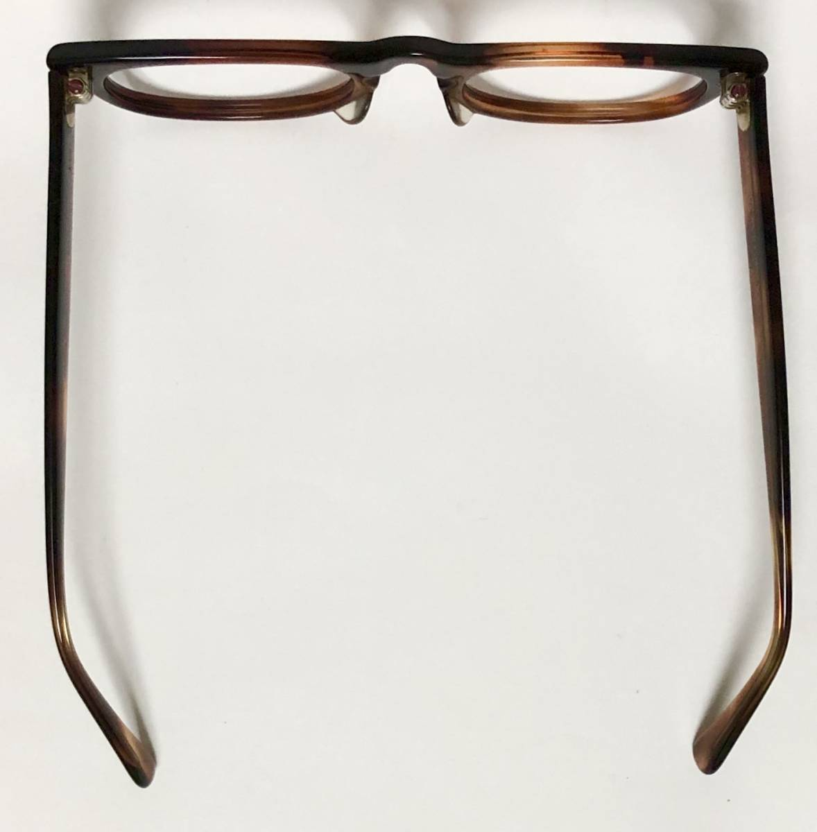 新品・1960年代頃】アメリカンオプティカル AO All純正 メガネ American Optical アンバー 米国製 ビンテージ ヴィンテージ _画像9