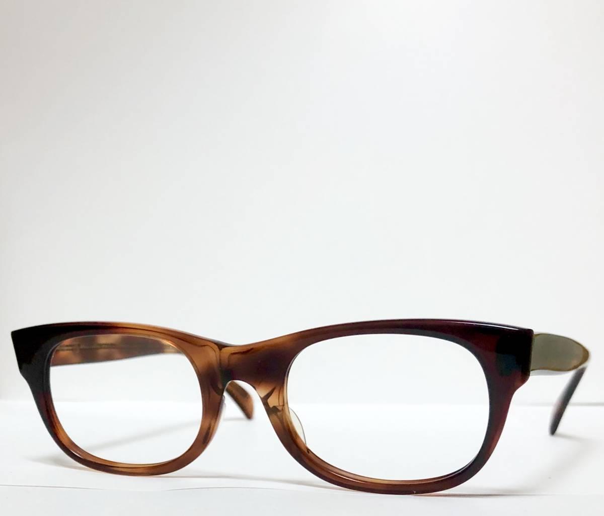 新品・1960年代頃】アメリカンオプティカル AO All純正 メガネ American Optical アンバー 米国製 ビンテージ ヴィンテージ _画像3