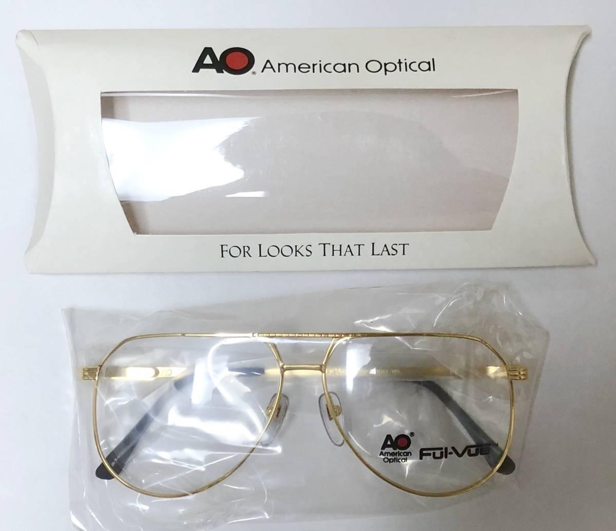 新品箱付】20K金 アメリカンオプティカル 1980年代 AO American Optical Ful-Vue 米国メガネ (参考: Rodenstock好きにオススメ_画像9