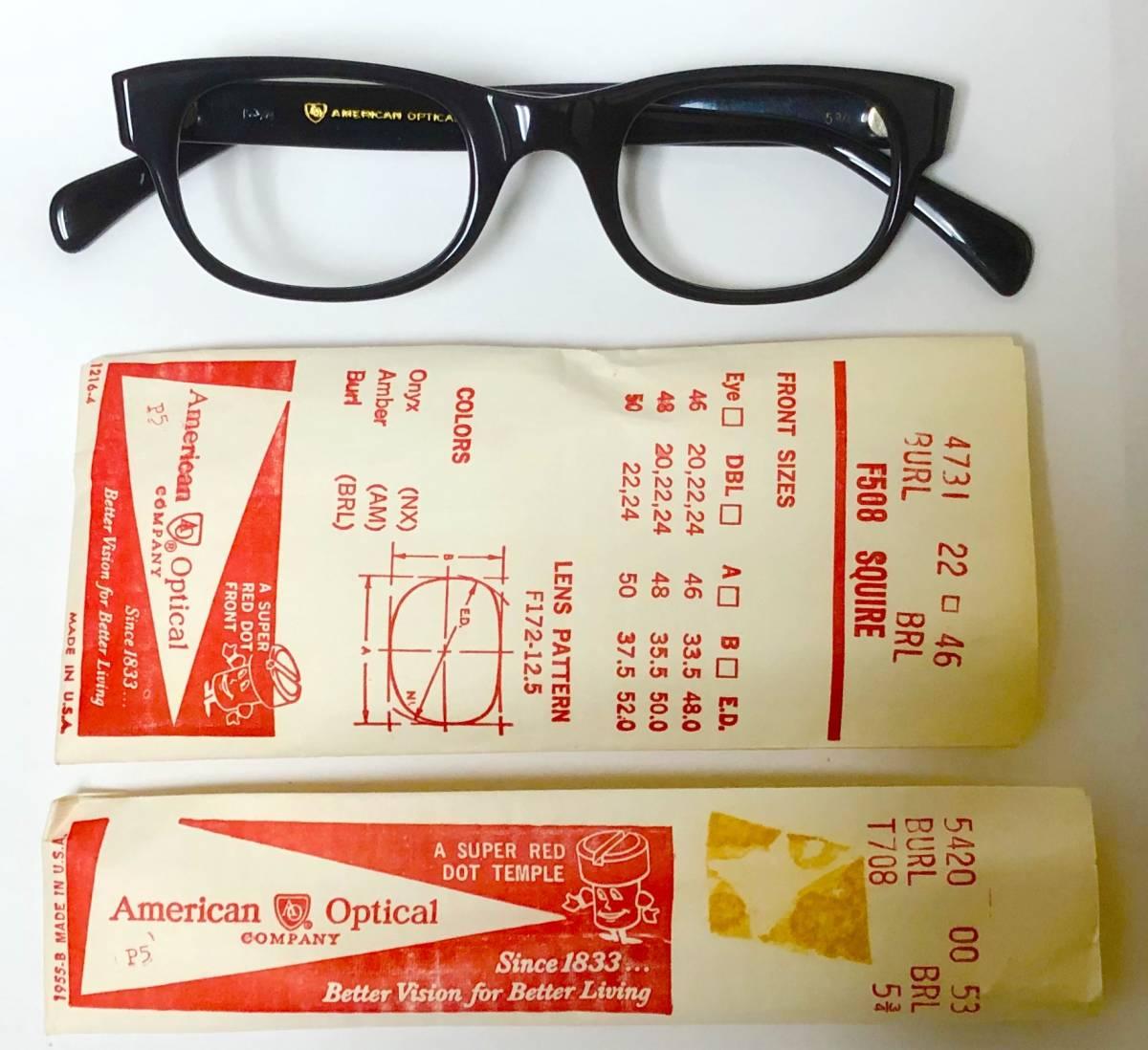 新品・1960年代頃】アメリカンオプティカル All純正 AO メガネ American Optical 米国製 ビンテージ ヴィンテージ_画像1