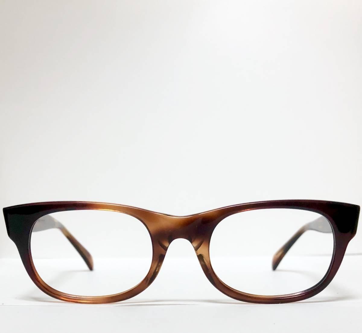 新品・1960年代頃】アメリカンオプティカル AO All純正 メガネ American Optical アンバー 米国製 ビンテージ ヴィンテージ _画像2