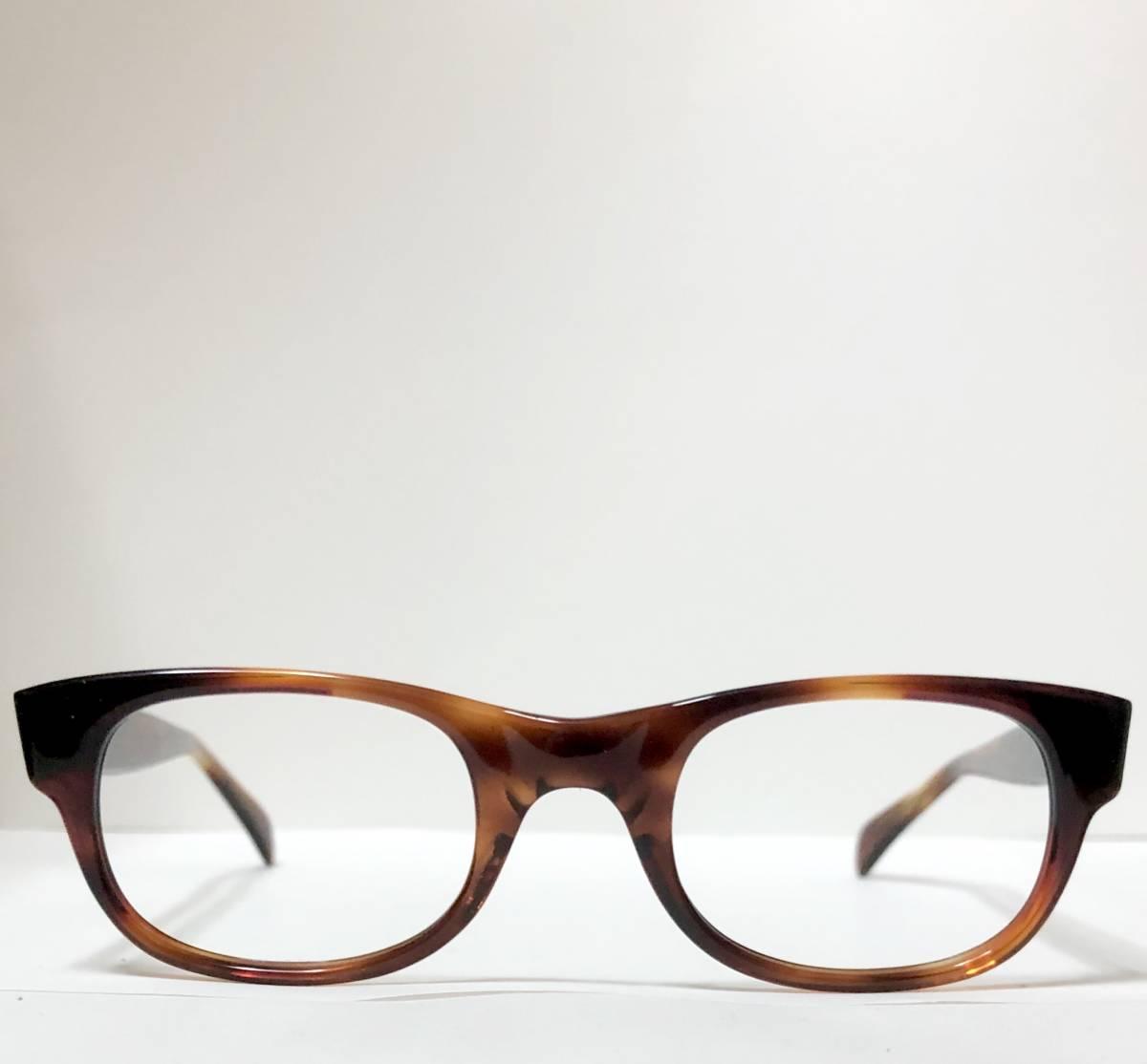 新品・1960年代頃】アメリカンオプティカル AO メガネ American Optical アンバー 米国製 ビンテージ / ヴィンテージ_画像2
