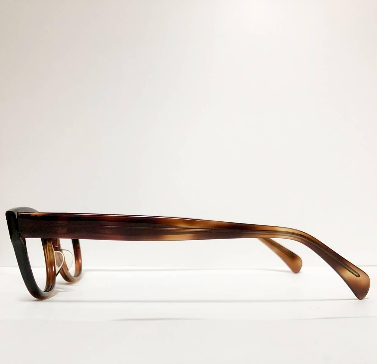 新品・1960年代頃】アメリカンオプティカル AO All純正 メガネ American Optical アンバー 米国製 ビンテージ ヴィンテージ _画像5