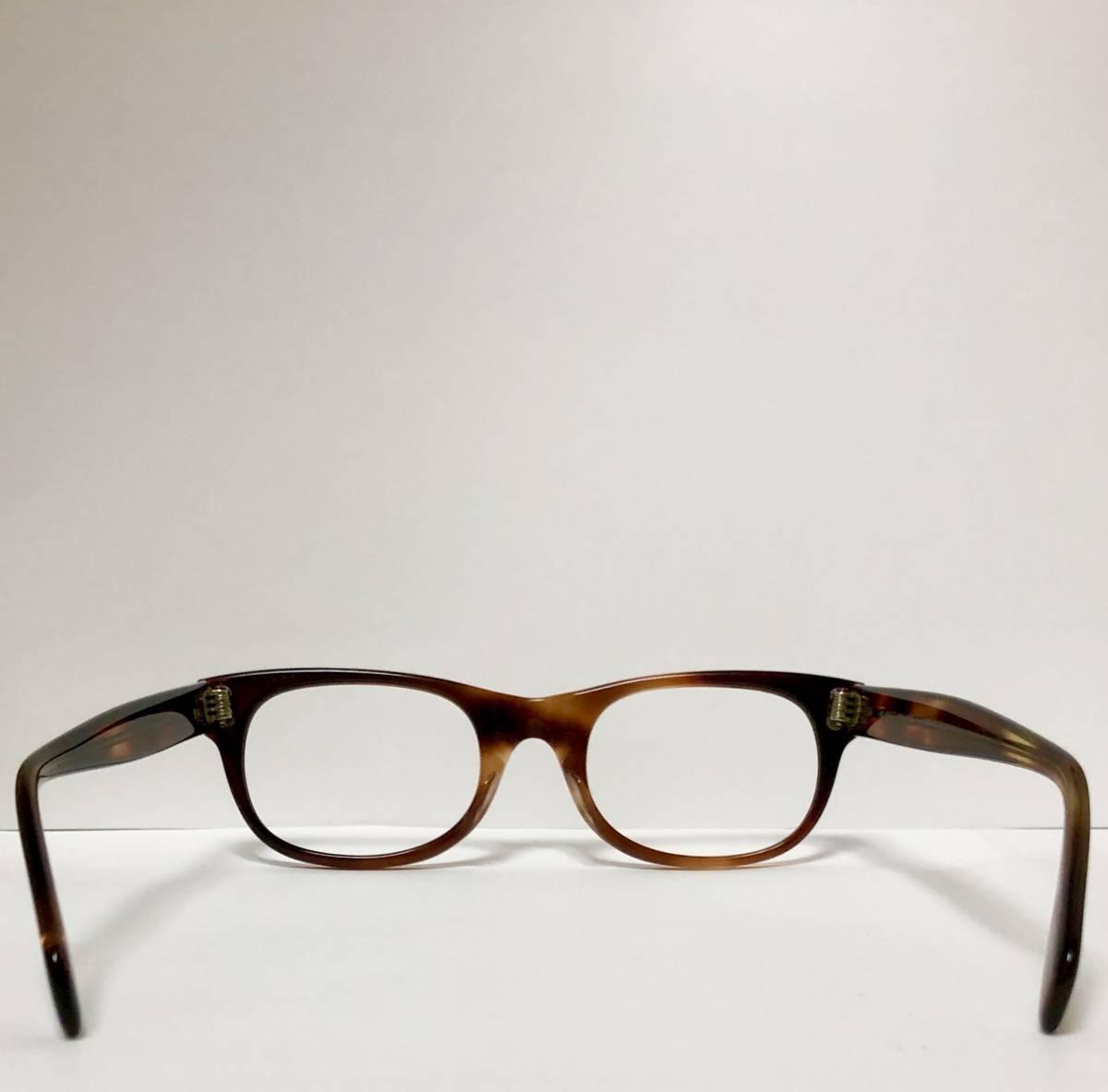 新品・1960年代頃】アメリカンオプティカル AO All純正 メガネ American Optical アンバー 米国製 ビンテージ ヴィンテージ _画像8