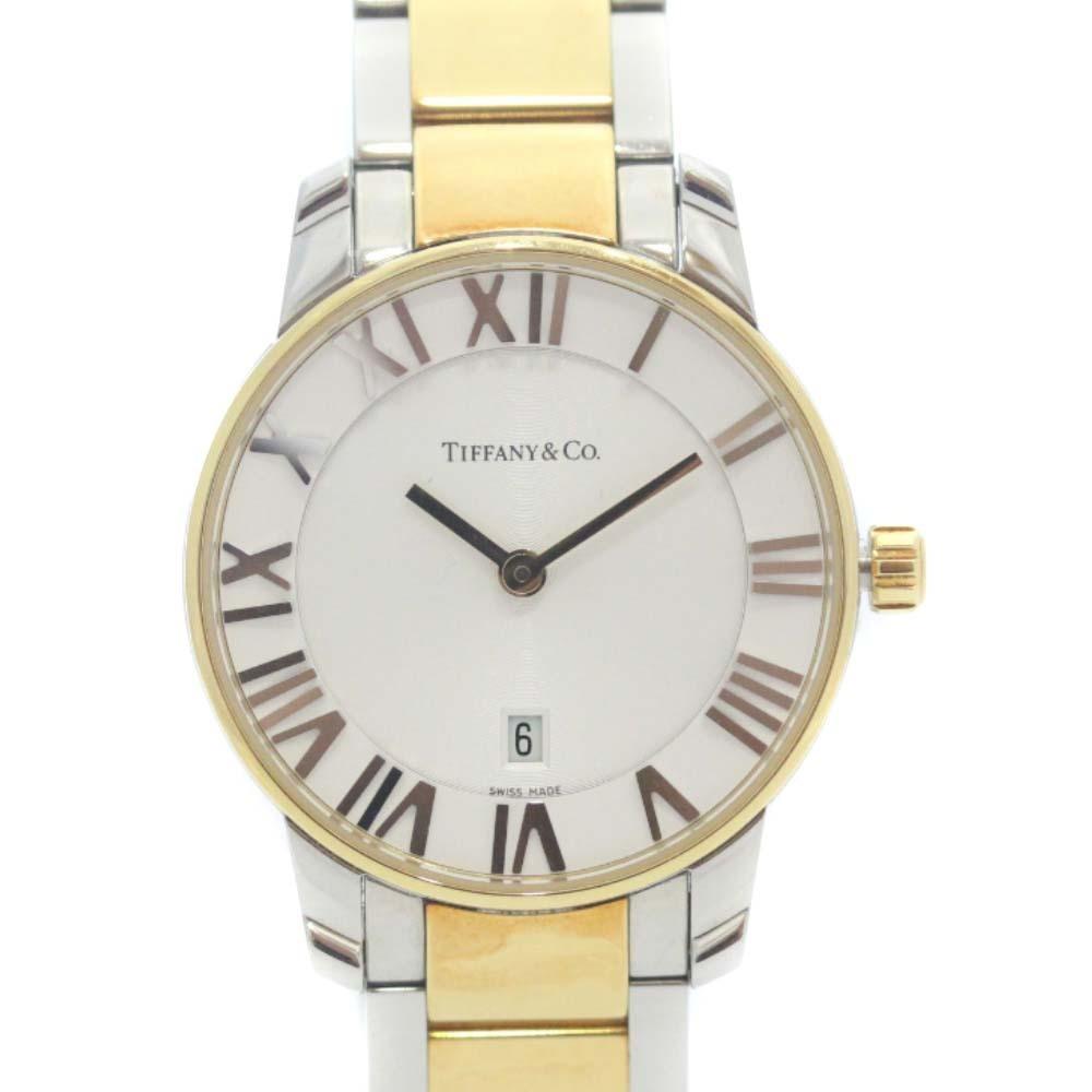 即決 ティファニー アトラスドーム 腕時計 レディース クオーツ ホワイト文字盤 コンビ Z1830.11.13A21A00A_画像3