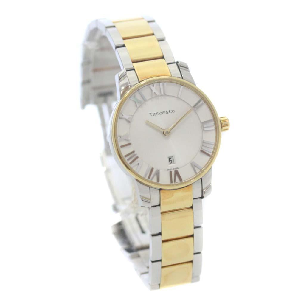 即決 ティファニー アトラスドーム 腕時計 レディース クオーツ ホワイト文字盤 コンビ Z1830.11.13A21A00A_画像1