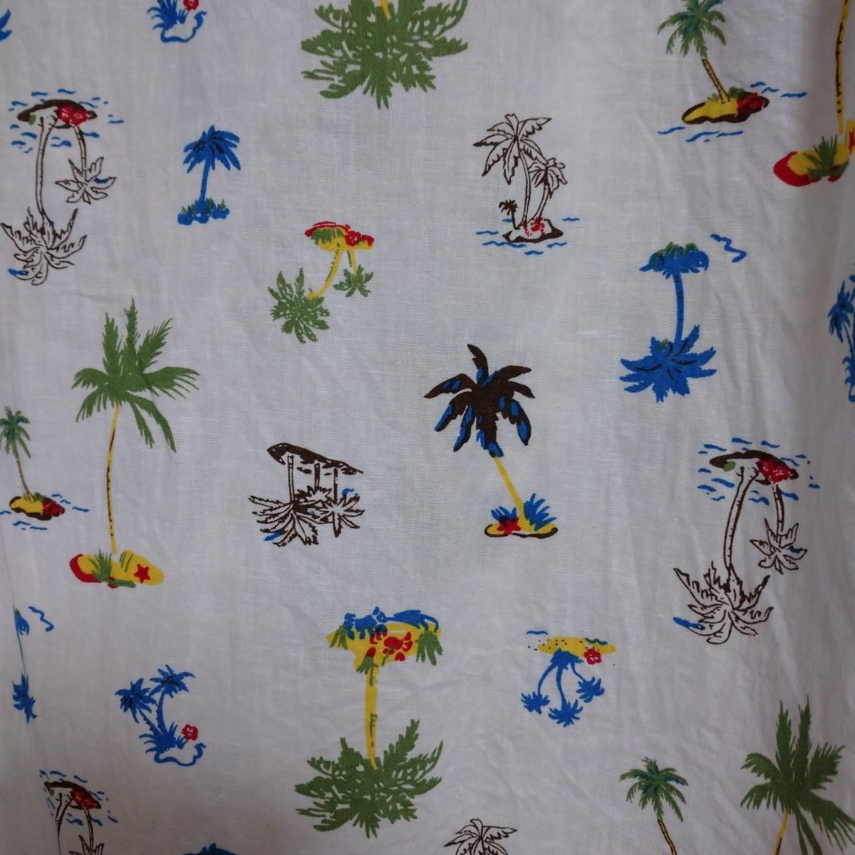メンズ 半袖シャツ カジュアルシャツ アロハシャツ ハワイ ヤシの木柄