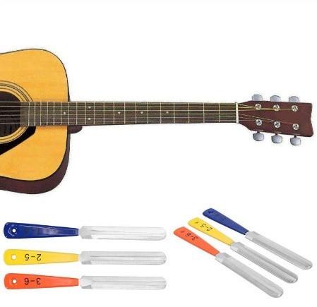 h785 3 ピース/セット ギターナットファイルフレット クラウニングスロット ファイリング 弦楽器製作者修復ツールキット_画像1