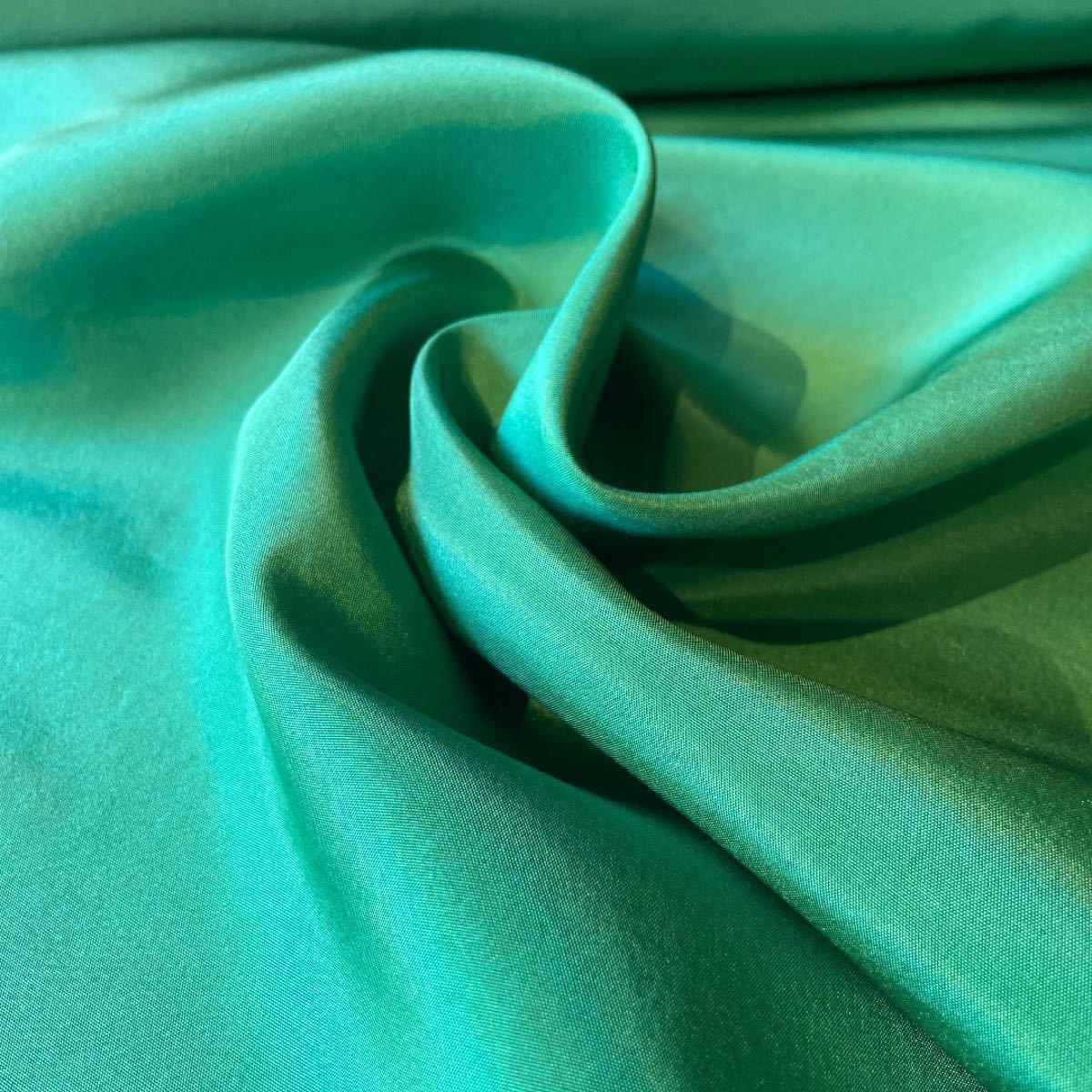 シルク生地 正絹 緑 1m