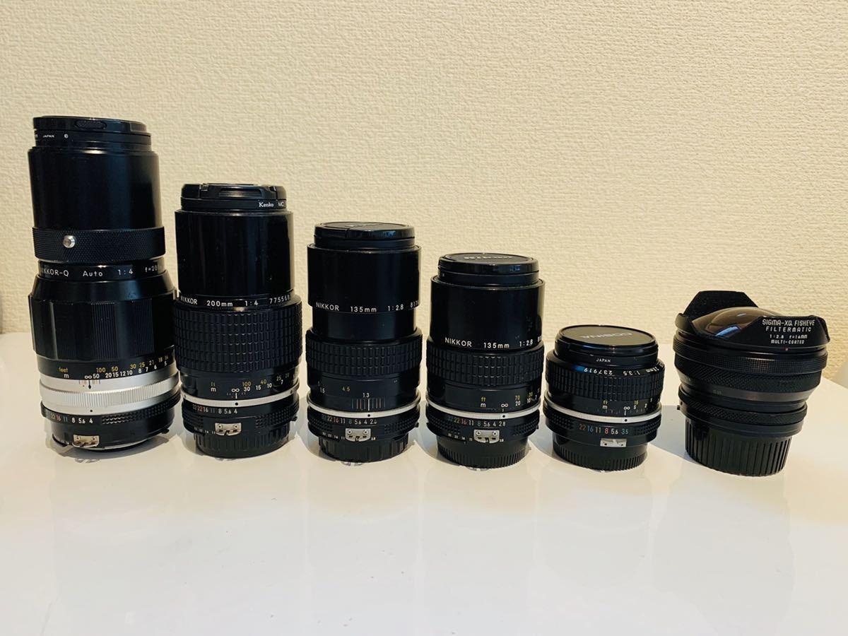 一円! ニコン Fマウント レンズ SIGMA-XQ FISHEYE FILTERMATIC f2.8 16mm nikkor ai f
