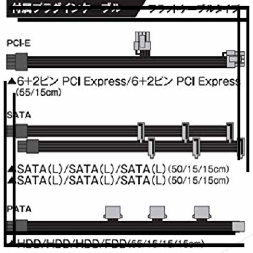 玄人志向 電源 KRPW-BKシリーズ 80PLUS Bronze 550W ATX電源 KRPW-BK550W/85+_画像7