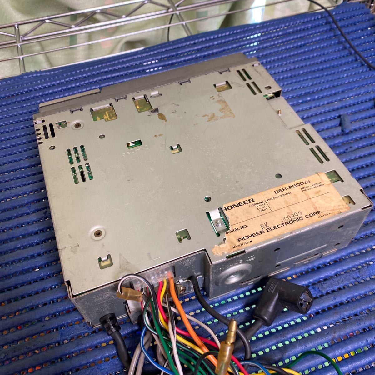 PIONEER CDプレーヤー DEH-P500 動作確認済み_画像8