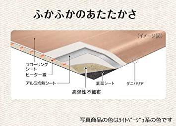 ブラウン 3 畳 パナソニック ホットカーペット フローリングタイプ ~3畳相当 ブラウン DC-3V4R-MT_画像6