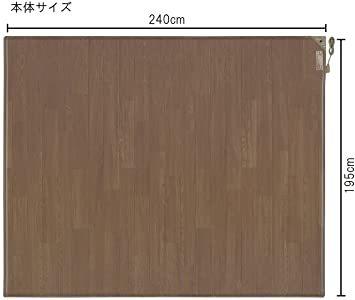 ブラウン 3 畳 パナソニック ホットカーペット フローリングタイプ ~3畳相当 ブラウン DC-3V4R-MT_画像2