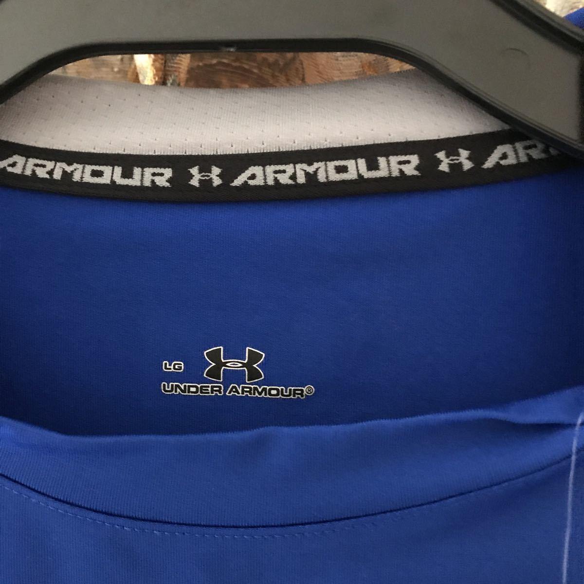 新品アンダーアーマー 半袖シャツ コンプレッションシャツ インナーシャツ トレーニング サッカー 野球 Lサイズ ヒートギア