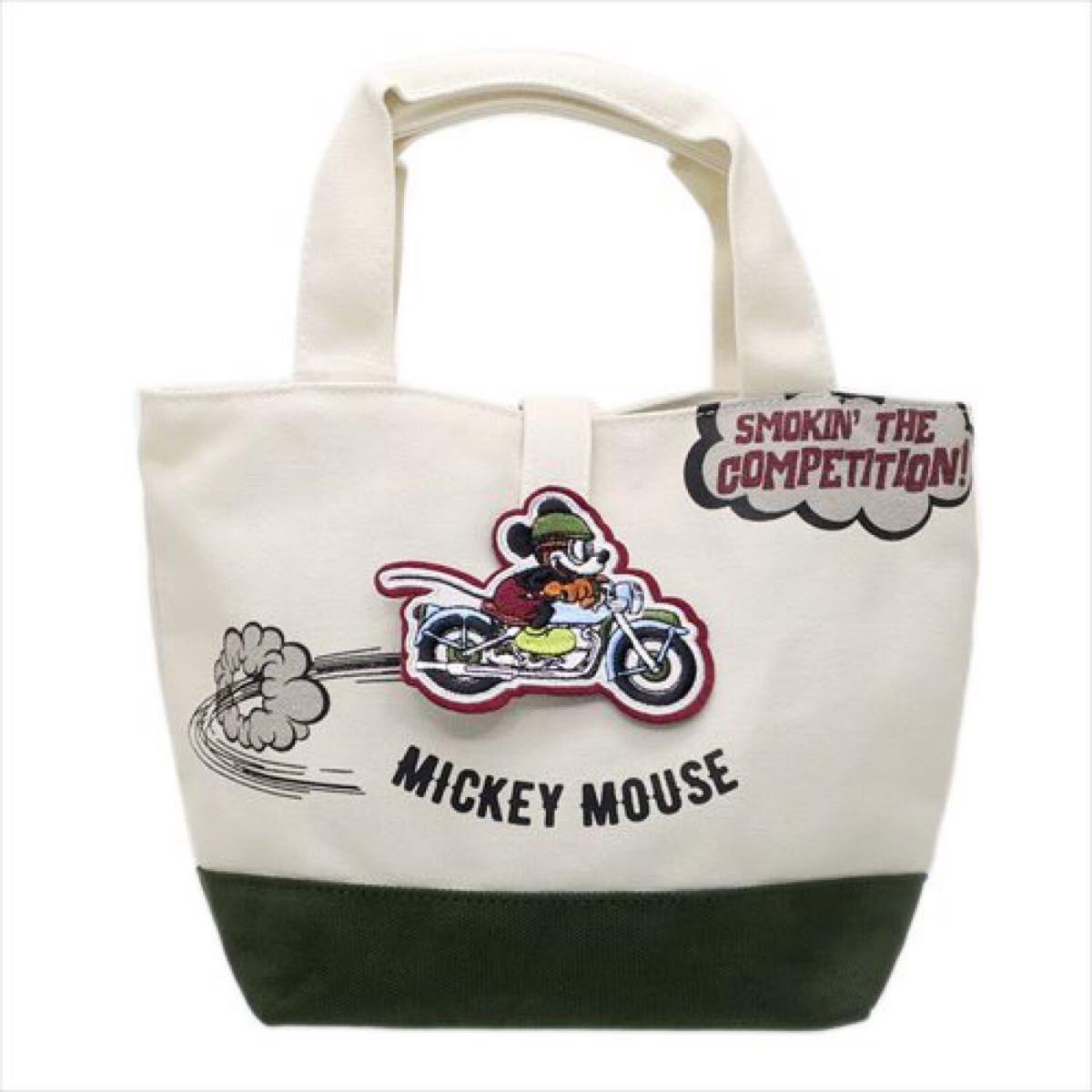 ミッキーマウス ワッペン ランチトート ランチバッグ ミニトートバッグ