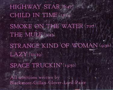 Deep Purple 2LP 「ライブ・イン・ジャパン」 日本盤帯付_画像2