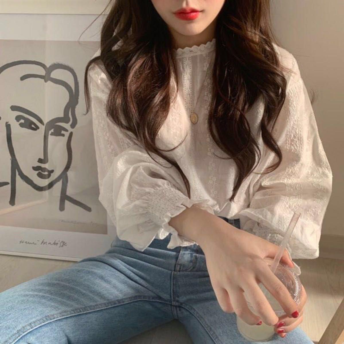 韓国ブラウスシャツ