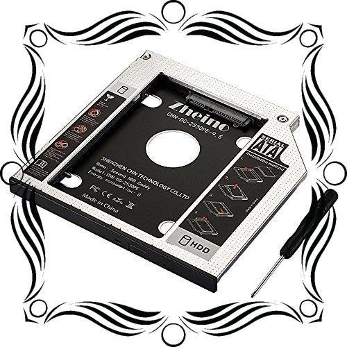 Zheino 2nd 9.5mmノートPCドライブマウンタ セカンド 光学ドライブベイ用 SATA/HDDマウンタよりCD/DVD_画像1