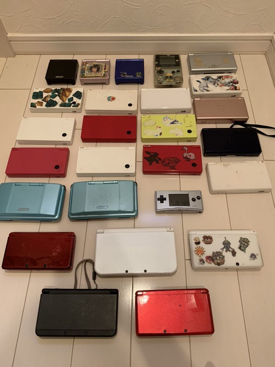 USED★3DSLL 3DS DSi DS Lite ゲームボーイミクロ ニンテンドーDS ゲームボーイカラー SP本体26台セット 送料込み激安スタート★