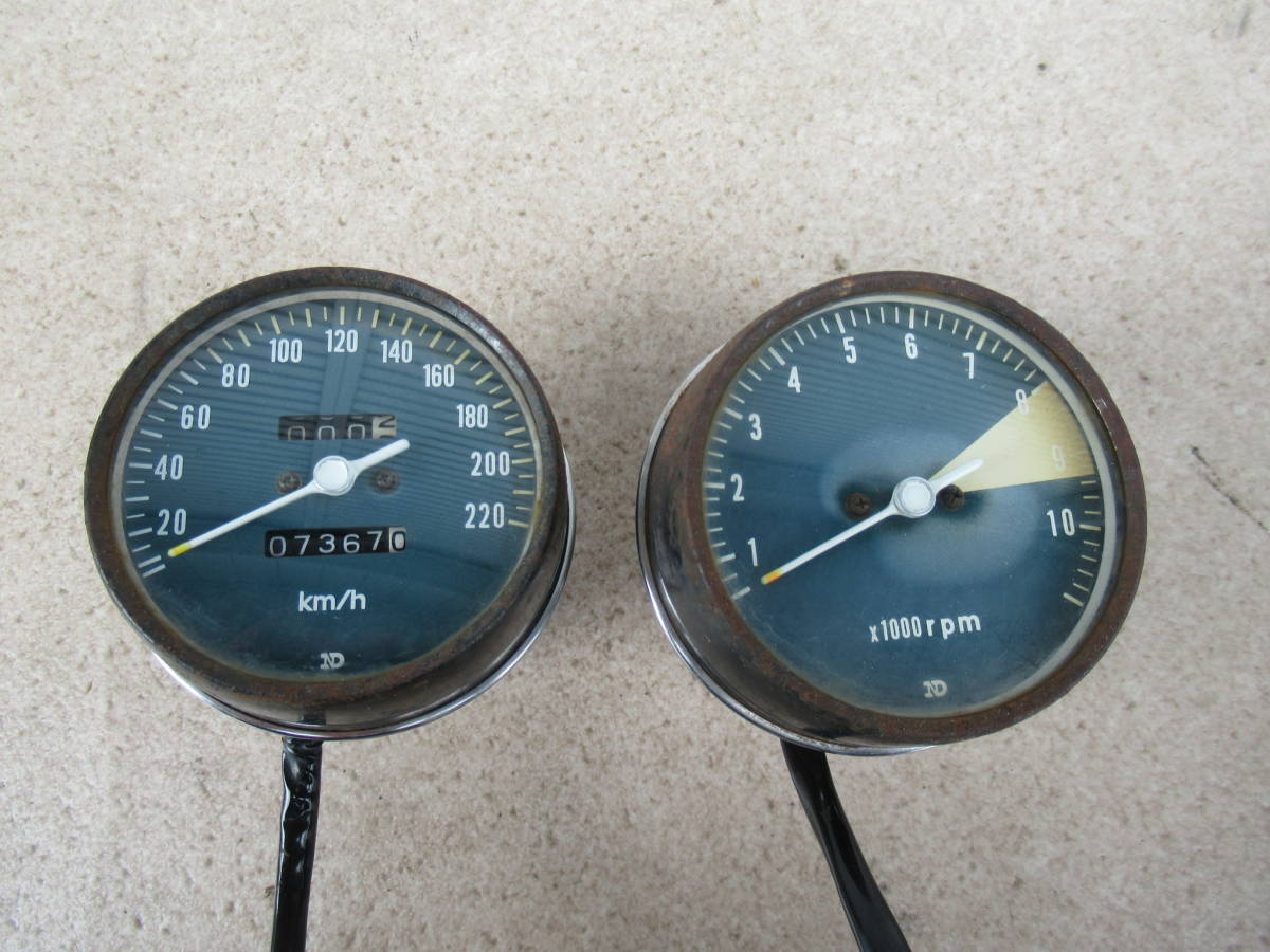 CB750K2 CB750Four K2 ホンダ純正 メーター スピードメーター タコメーター 中古品 当時物 HONDA HONDA 国内物 CB750K K0 K1 K3 K4 HM300