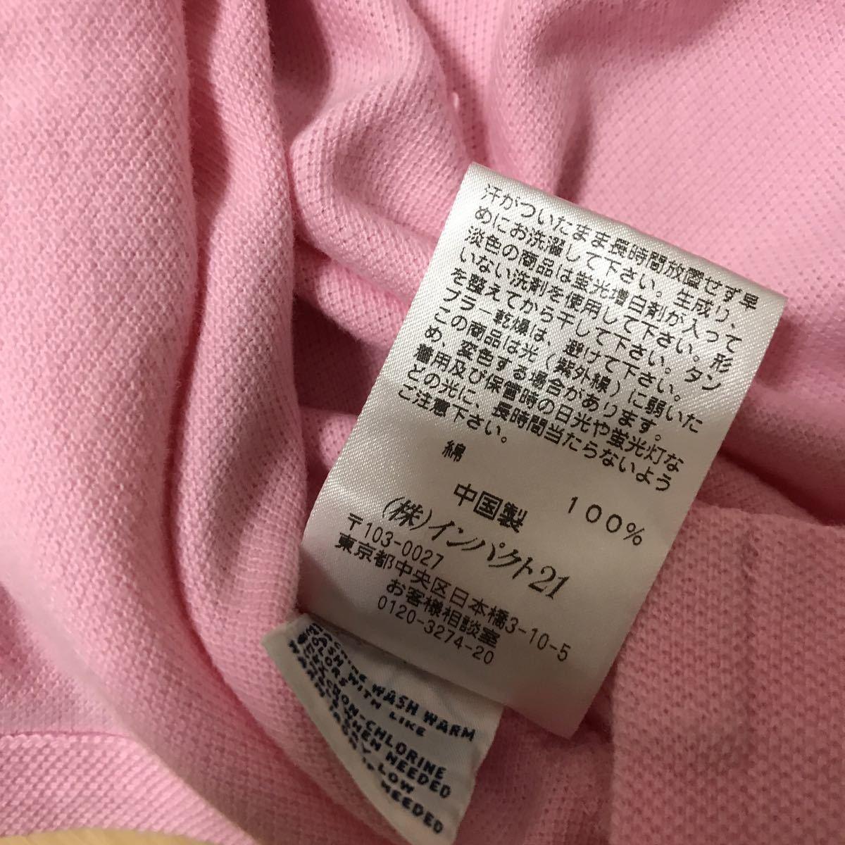POLO Ralph Lauren ポロ ラルフローレン 半袖 コットン ポロシャツ Sサイズ表記 ピンク