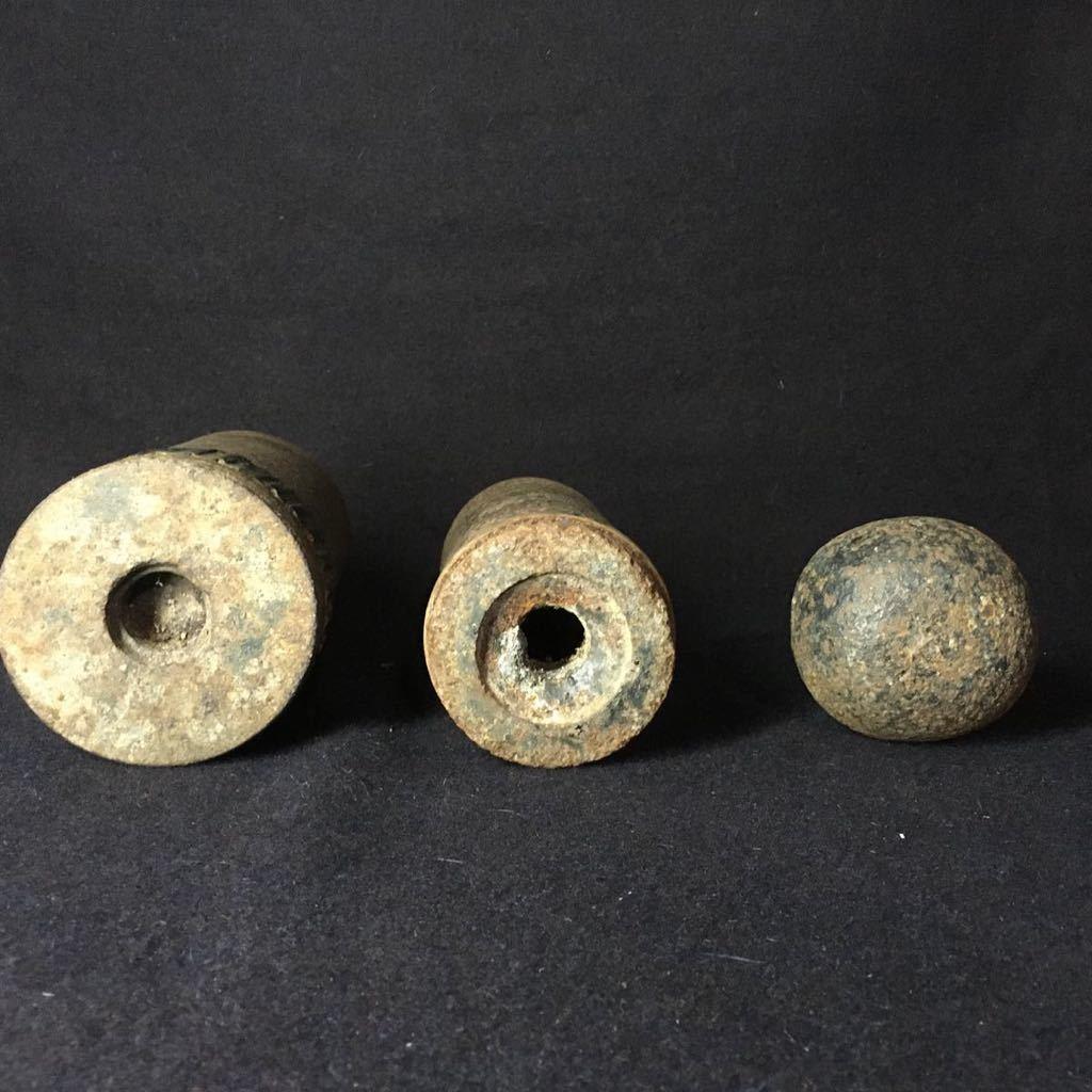 徹甲弾弾頭 砲弾 安全品 骨董品 時代 3点まとめて 旧日本軍_画像2