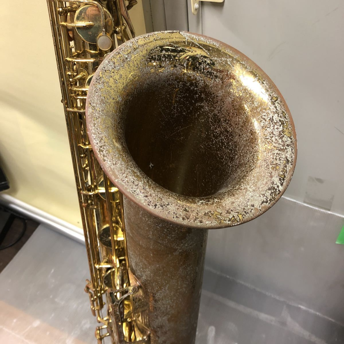 ★YAMAHA★ヤマハ バリトンサックス YBS-61 木管楽器 プロモデル 5388 ヴィンテージ 中古現状品 _画像3