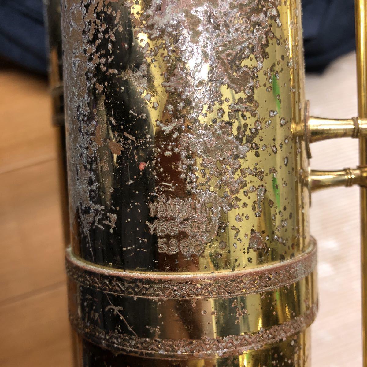★YAMAHA★ヤマハ バリトンサックス YBS-61 木管楽器 プロモデル 5388 ヴィンテージ 中古現状品 _画像9