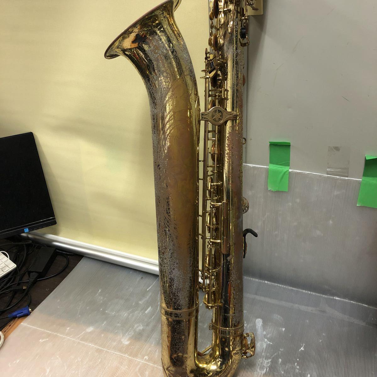 ★YAMAHA★ヤマハ バリトンサックス YBS-61 木管楽器 プロモデル 5388 ヴィンテージ 中古現状品 _画像5