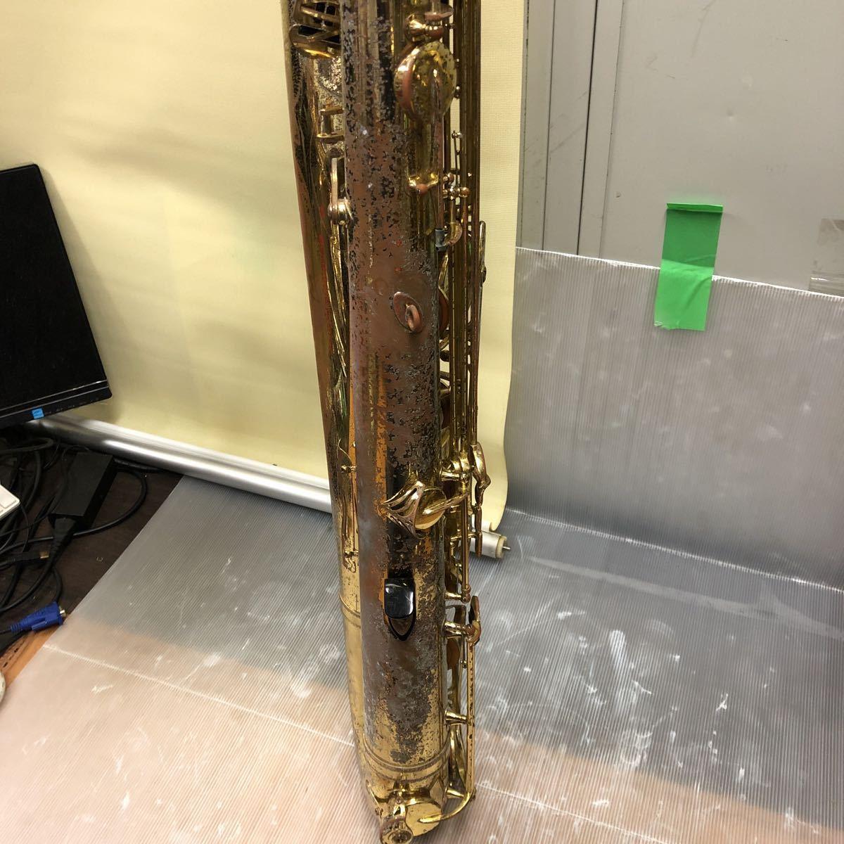 ★YAMAHA★ヤマハ バリトンサックス YBS-61 木管楽器 プロモデル 5388 ヴィンテージ 中古現状品 _画像7