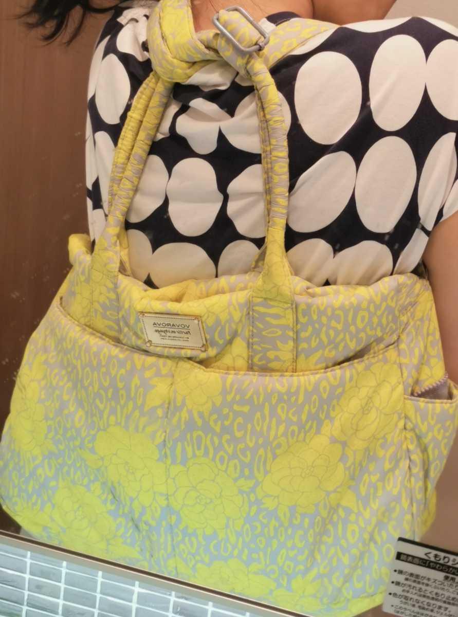 VOVAROVA トートバッグ  マザーズバッグ ママバッグ 旅行バック ジムバック 斜めがけ ショルダーバッグ 北欧 黄色 花柄 軽量