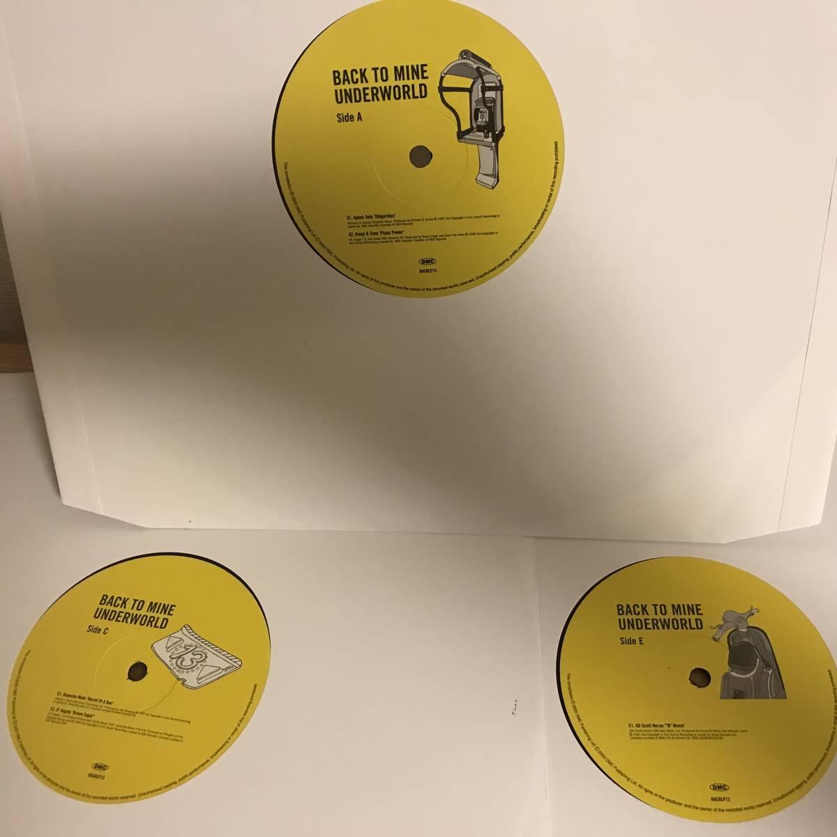 Underworld - Back To Mine (3LP) Aphex Twin / Depeche Mode / D'Angelo / TLC / Gil Scott-Heron / Gregory Isaacs_画像3