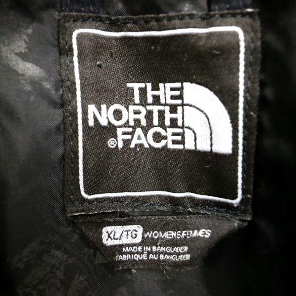 THE NORTH FACE ザノースフェイス ダウンジャケット スキーウェア アウトドア 黒 (Women's XL) 大きいサイズ 中古 古着 I4631_画像4