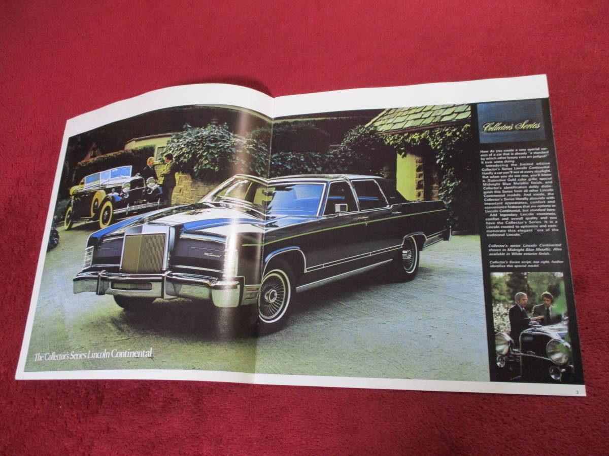 ☆ FORD LINCOLN CONTINENTAL 1979 昭和54 大判 カタログ ☆_画像2