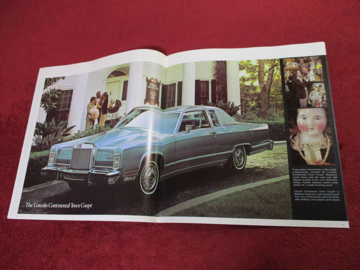 ☆ FORD LINCOLN CONTINENTAL 1979 昭和54 大判 カタログ ☆_画像4