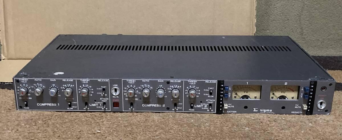 SIGMA SS-501 放送局用2chコンプレッサー・リミッター ジャンク_画像1