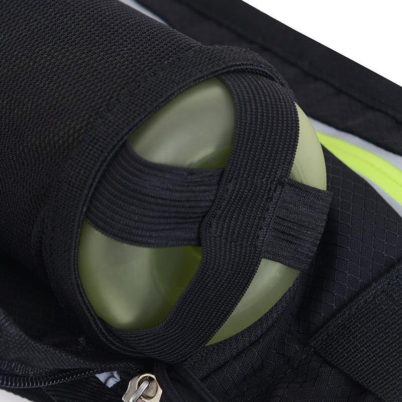【男女兼用】ランニングポーチ 防水ウエストバッグ ウェストポーチ ランニングバッグ ボトルポーチ 水筒 ペットボトルホルダー付き