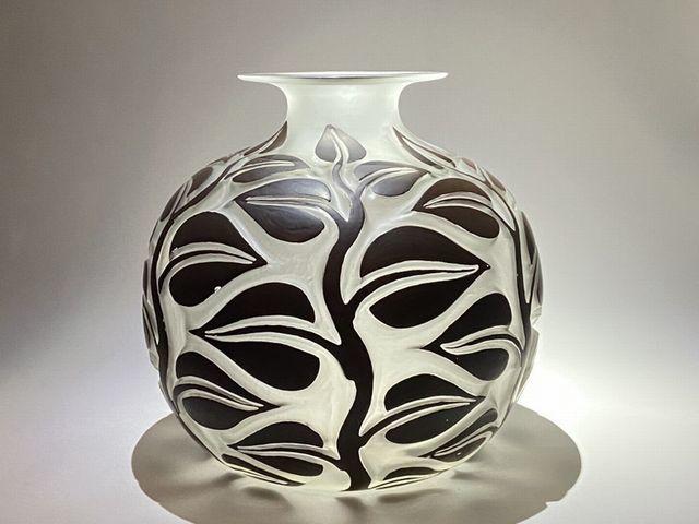 《芦》 Rene Lalique ルネ・ラリック SOPHORA(槐エンジュ) 花器_画像9
