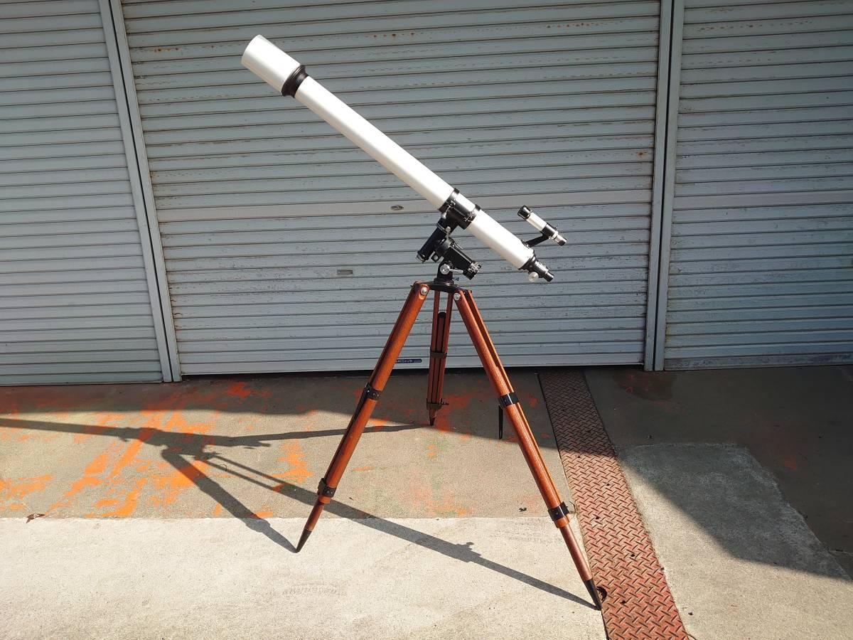 104X136★KENKO ケンコー 天体望遠鏡 KE-76型 屈折赤道儀 長焦点アクロマート ☆中古品☆