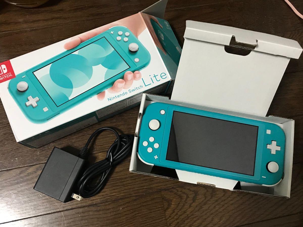 【中古美品】 Nintendo Switch lite ターコイズ