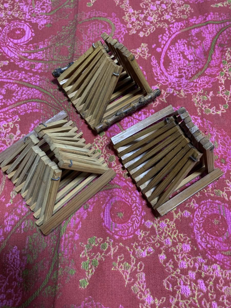 【昭和レトロ】おしぼり置き 木製 3個セットで_画像3