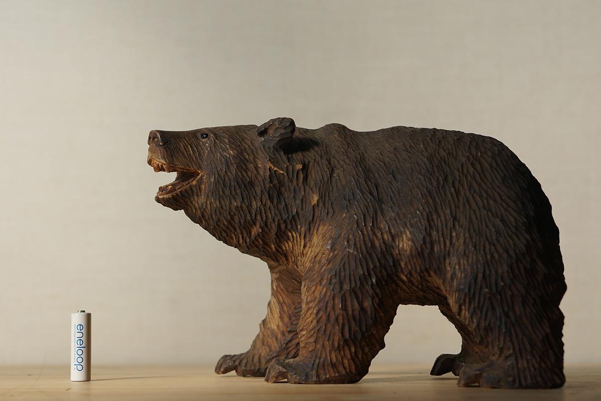 木彫りの熊 高さ約18.5cm ガラス目 [やくも/八雲][彫刻][アイヌ][置物][北海道][工芸品][民芸品]_画像5