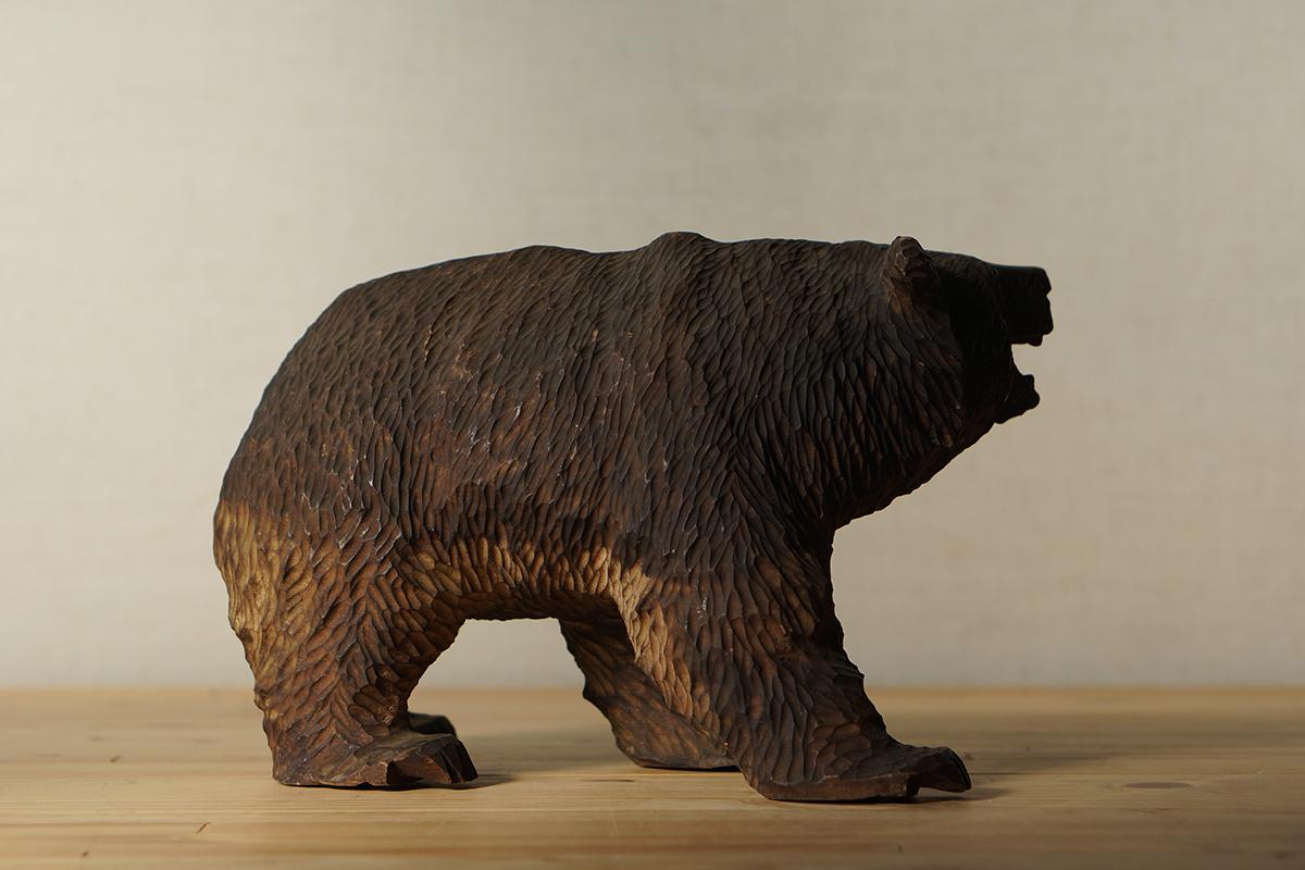 木彫りの熊 高さ約18.5cm ガラス目 [やくも/八雲][彫刻][アイヌ][置物][北海道][工芸品][民芸品]_画像6