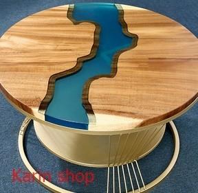 ★★高級サイドテーブル★★ くるみの木 胡桃 ローテーブル センターテーブル  ラウンドサイドテーブル コーヒーテーブル d0014-2_画像3