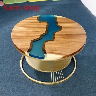 ★★高級サイドテーブル★★ くるみの木 胡桃 ローテーブル センターテーブル  ラウンドサイドテーブル コーヒーテーブル d0014-2_画像2